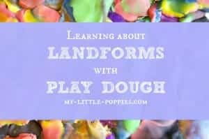 Learning about Landforms with Play Dough