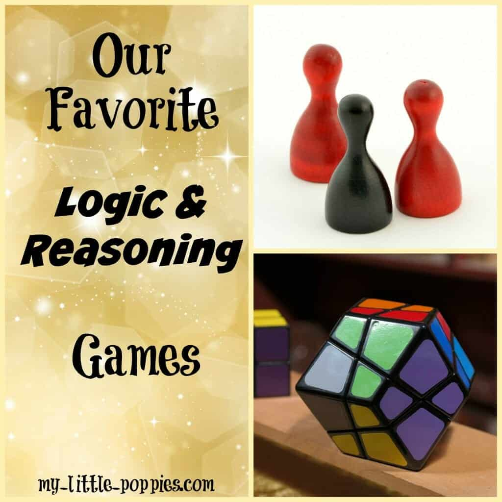 Our Favorite Logic and Reasoning Games, math games, math, mathematics, homeschool, homeschooling, math books, learning, learning through play, 10+ Amazing Math Games for Your Homeschool My Little Poppies, educational games, homeschool, homeschooling, math facts, practice math, play,