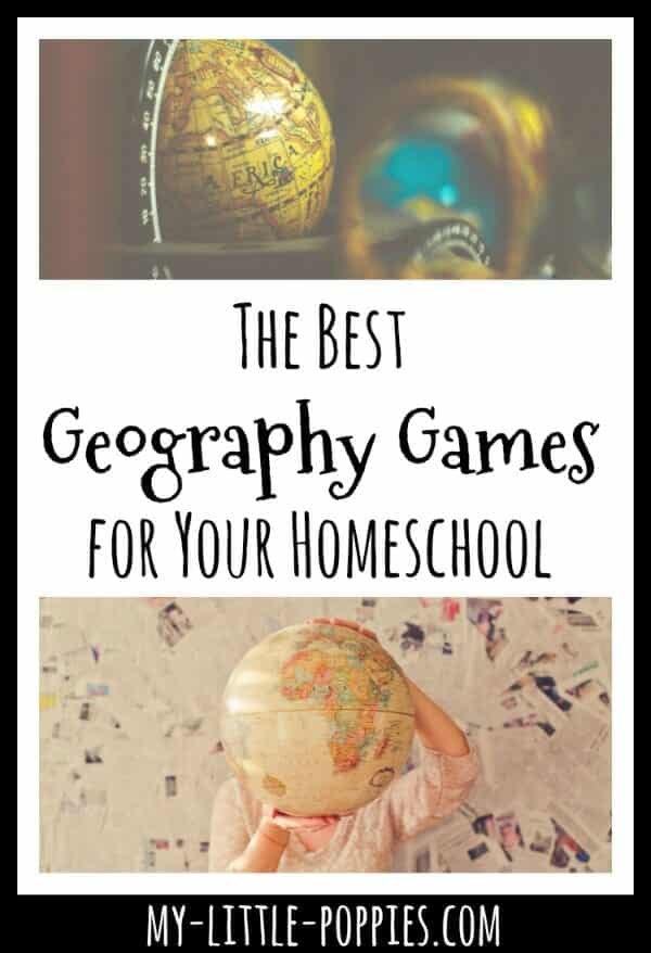 Gameschooling: The Best Geography Games for Your Homeschool | My Little Poppies, gameschooling, gameschool, game-based learning, educational games, geography games for kids, board games geography