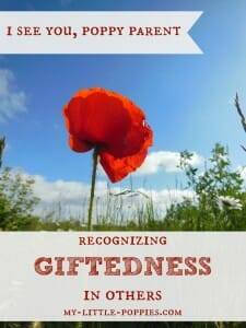 I See You, Poppy Parent {Recognizing Giftedness}