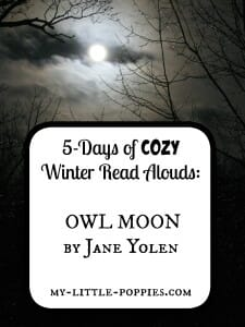 5-Days of COZY Winter Read Alouds Owl Moon by Jane Yolen