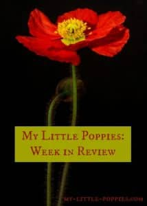 My Little Poppies Week in Review, homeschool, books, homeschooling, parenting
