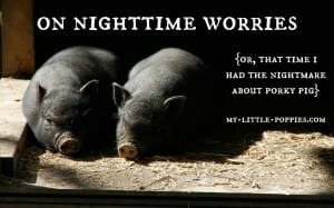 On Nighttime Worries {Or, That Time I Had the Nightmare about Porky Pig}