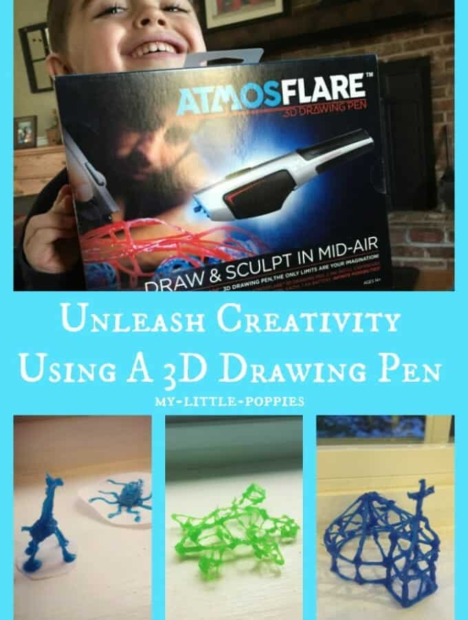 Unleash Your Creativity Using A 3D Drawing Pen, atmosflare, homeschool, 3d art,