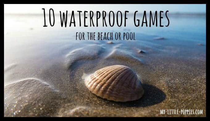 waterproof board games, water resistant, travel games, board games, learning, summer learning, pool, beach, water,
