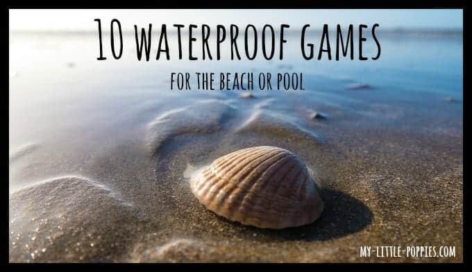 Waterproof Games, waterproof board games, water resistant, travel games, board games, learning, summer learning, pool, beach, water,