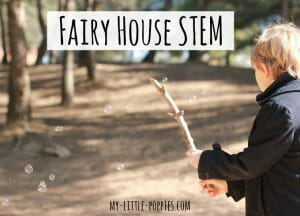 STEM, STEAM, fairy houses, fairy village, how to make a fairy house, fairies, play, imagination, creativity, homeschool