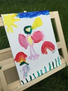 easy outdoor art