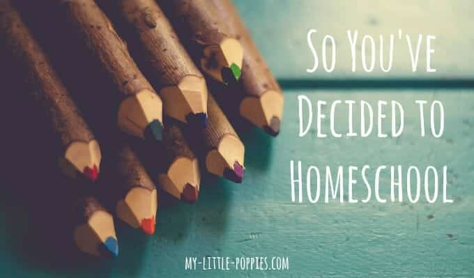 So You've Decided to Homeschool