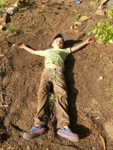 boy in dirt