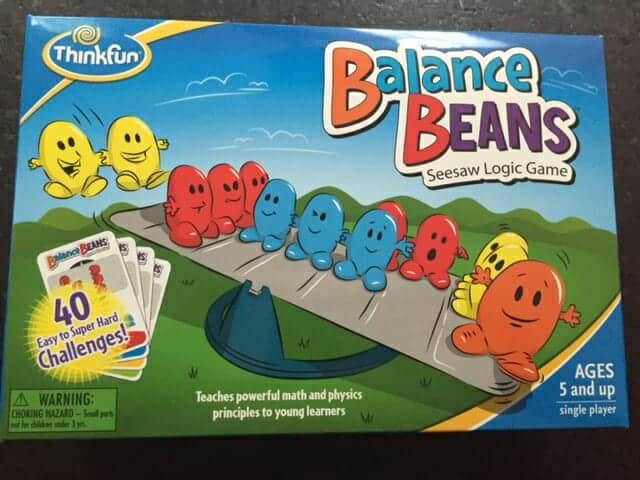 ThinkFun, one-player game, math game, Balance Beans