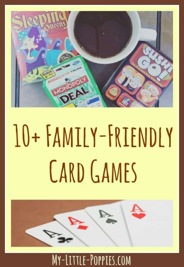 10+ Family-Friendly Card Games for Your Homeschool My Little Poppies, homeschooling, games, board games, educational games