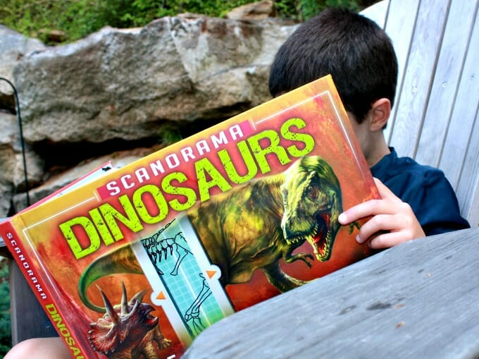 Using interactive children's books to ignite curiosity, The scanorama series, silver dolphin books, homeschool, homeschooling, science books, dinosaur books, animal books, scanorama, children's books, interactive children's books, Dinosaur Scanorama by Silver Dolphin Books (7)