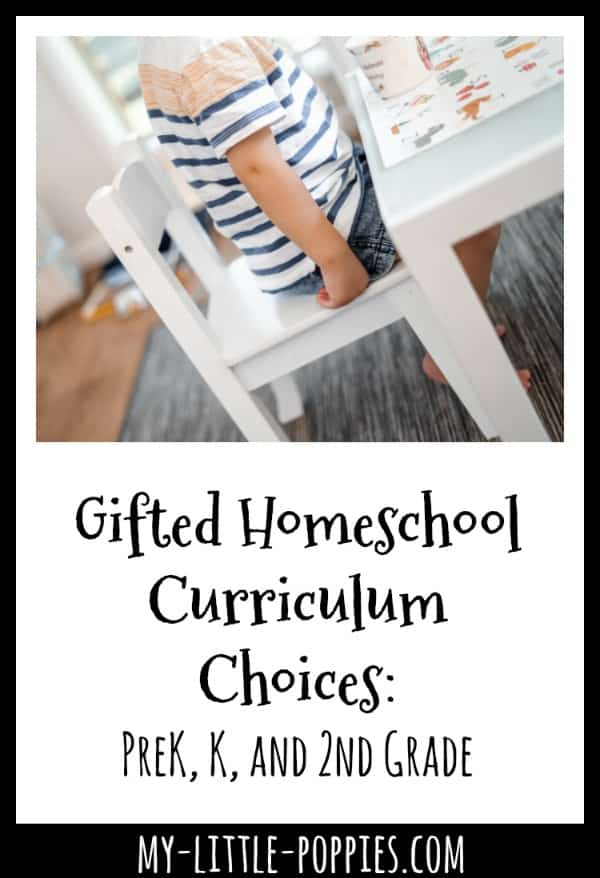 Gifted Homeschool Curriculum Choices: PreK, K, and 2nd Grade | My Little Poppies