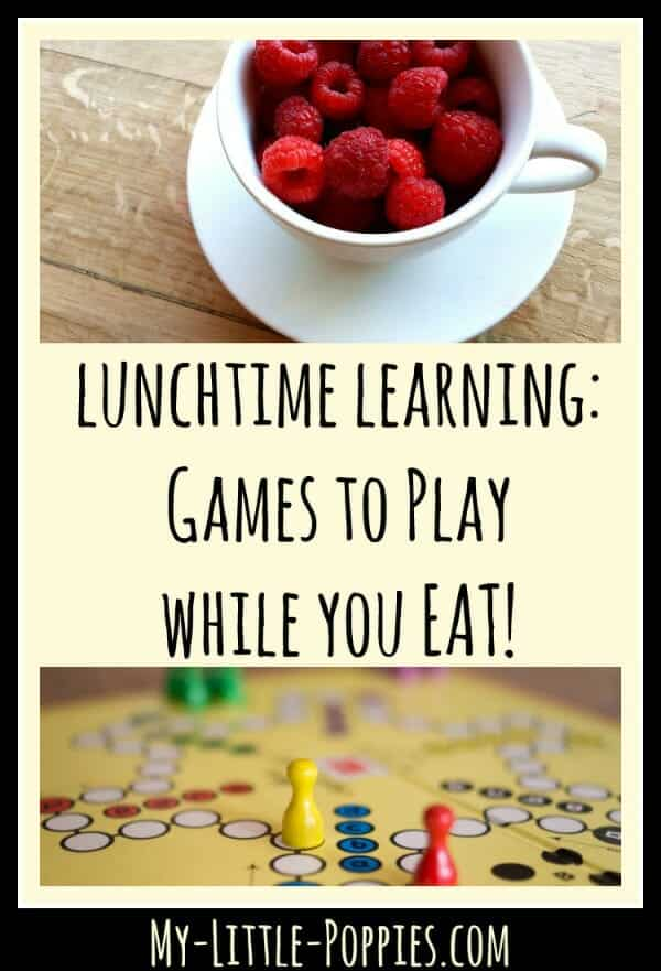 Lunchtime Learning Games to Play While You Eat! My Little Poppies, games, board games, table top games, siblings, educational games
