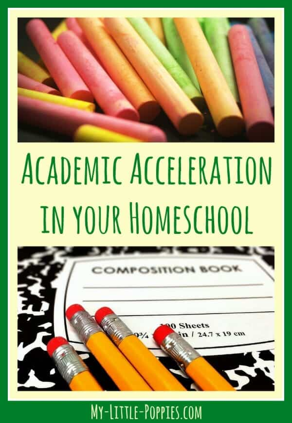 Academic Acceleration and Homeschooling, Academic Acceleration in Your Homeschool | My Little Poppies, gifted, giftedness, twice-exceptional, 2e,