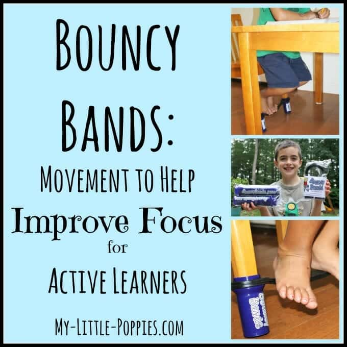 ADHD, anxiety, SPD, sensory processing disorder, sensory tools, concentration, attention, memory, wiggle, movement, learning, Bouncy Bands, homeschool, homeschooling, school, classroom, learning, motivation, testing, parenting, improve focus, improve attention
