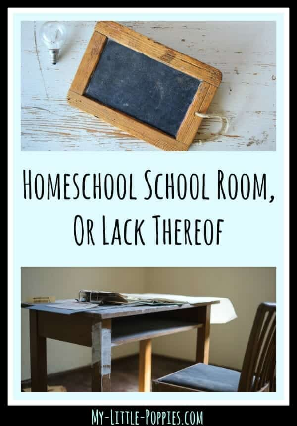 Homeschool School Room, Or Lack Thereof