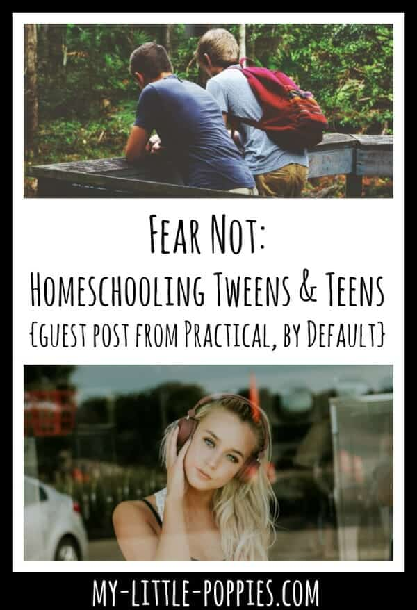 Fear Not: Homeschooling Tweens & Teens {Guest Post from Practical, By Default} | My Little Poppies