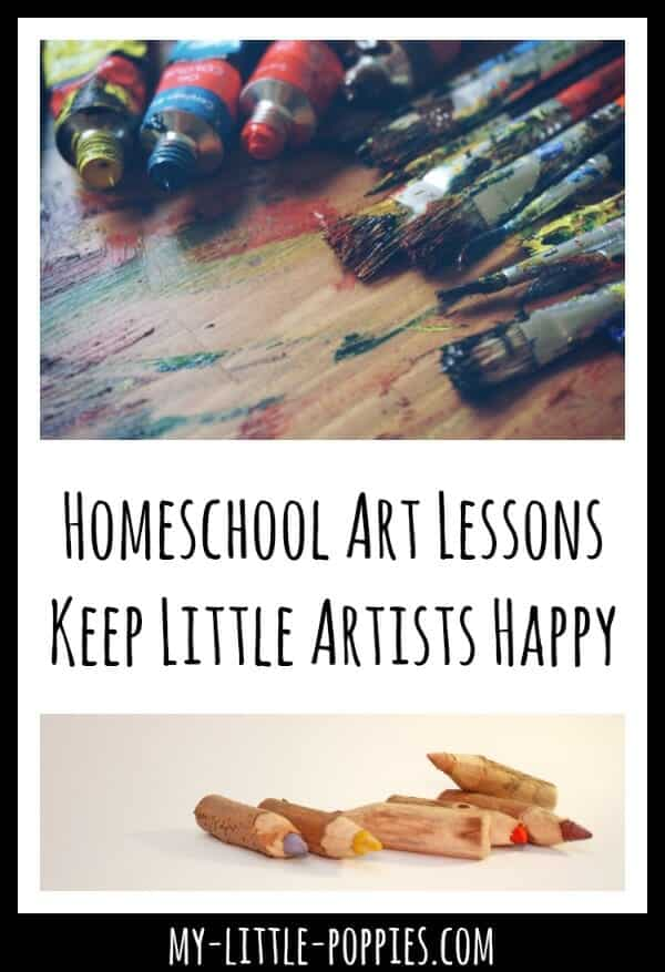 Homeschool Art Lessons Keep Little Artists Happy My Little Poppies