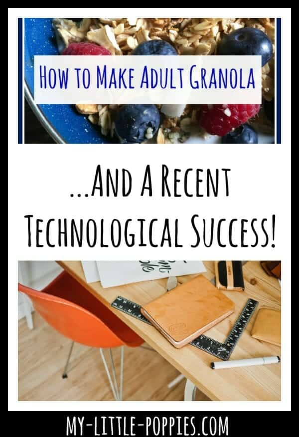 How to Make Adult Granola... And a Recent Technological Success! | My Little Poppies, the homeschool sisters podcast, motherhood, subscription