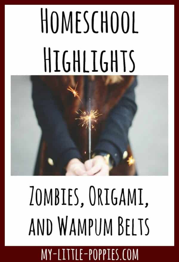 Homeschool Highlights: Zombies, Origami, and Wampum Belts | My Little Poppies