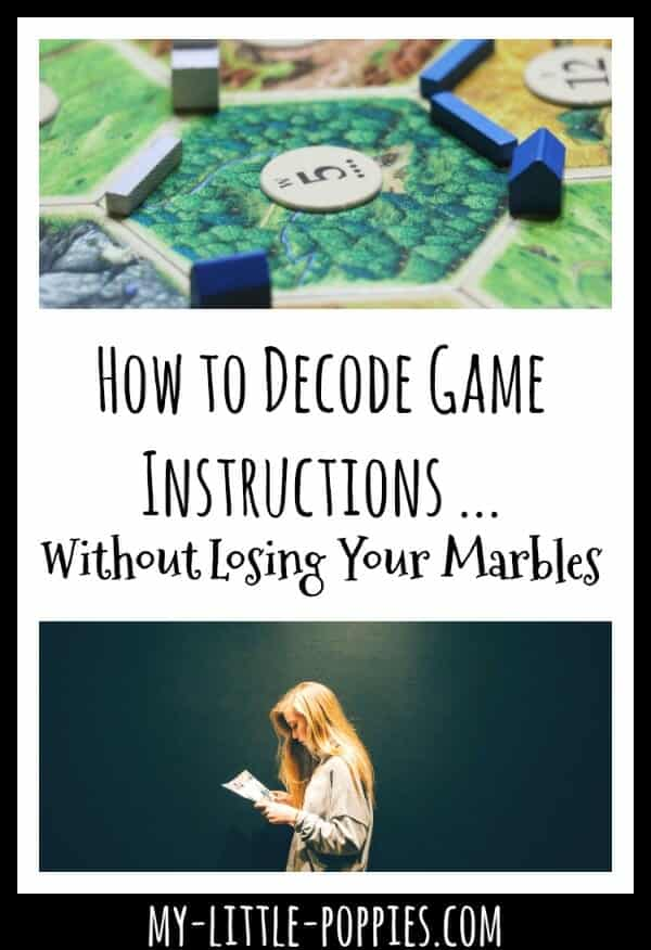how to play board games, how to figure out board game directions, How to Decode Game Instructions without Losing Your Mind | My Little Poppies