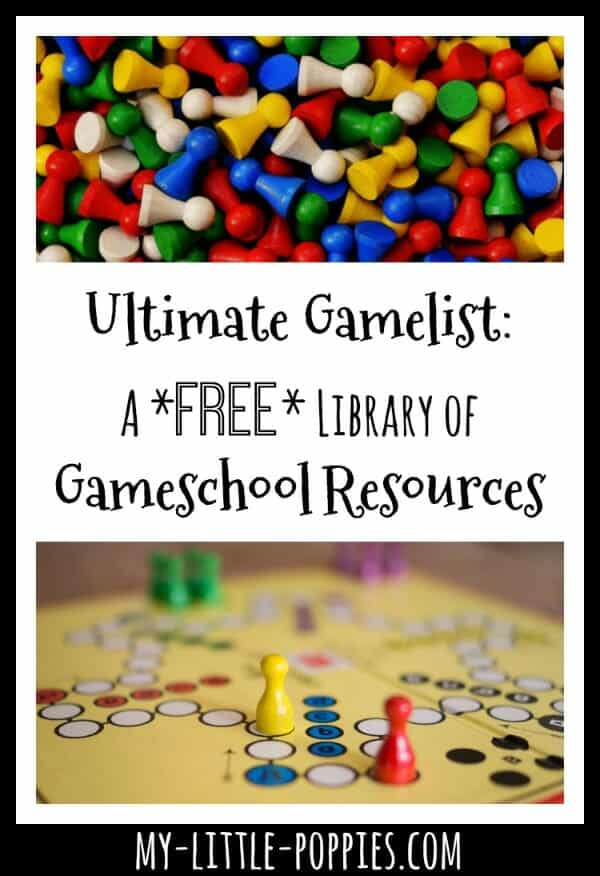 Ultimate Gamelist A FREE Library of Gameschool Resources