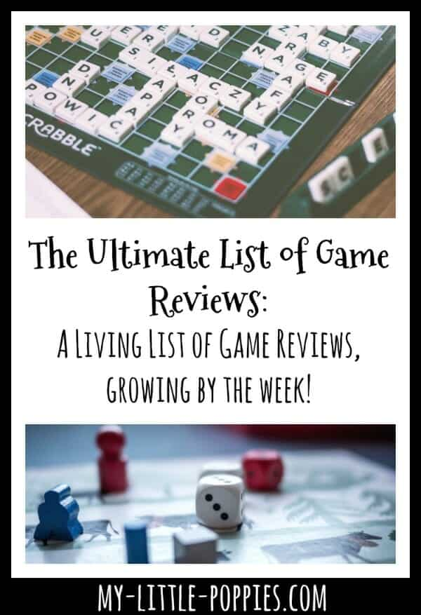 A Growing List of My Little Poppies Game Reviews: A Living List of Board Game Reviews, Growing by the Week! | My Little Poppies