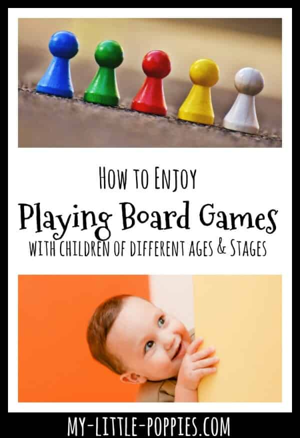How to Enjoy Board Games With Toddlers Underfoot How to Enjoy Playing Board Games with Children of all Different Ages and Stages | My Little Poppies, multiple ages, gameschool, gameschooling, family game night