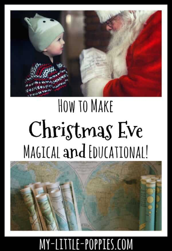 How to Make Christmas Eve Magical, Fun, and Educational! | My Little Poppies, pin it maps, NORAD, geography, homeschool, homeschooling
