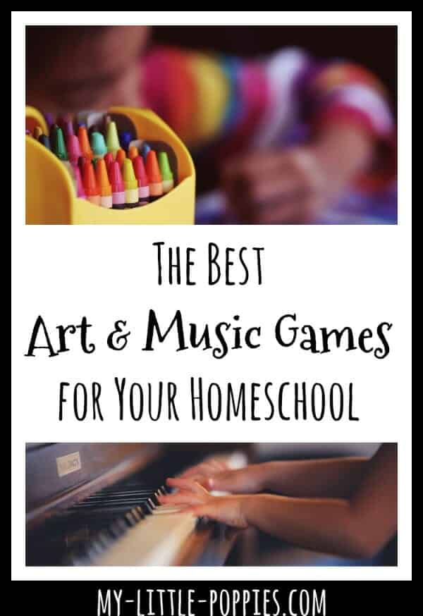 The Best Art and Music Games for Your Homeschool {Gameschooling} | My Little Poppies