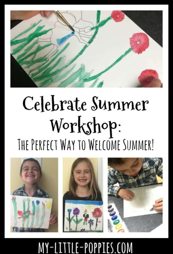 Celebrate Summer Mixed Media Workshop is the Perfect Way to Welcome Summer! | My Little Poppies
