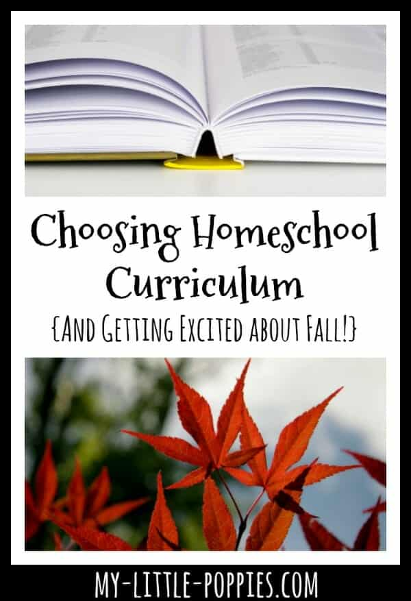 Choosing Homeschool Curriculum {And Getting Excited about Fall!}   My Little Poppies