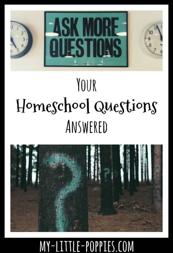 Your Homeschool Questions Answered | My Little Poppies
