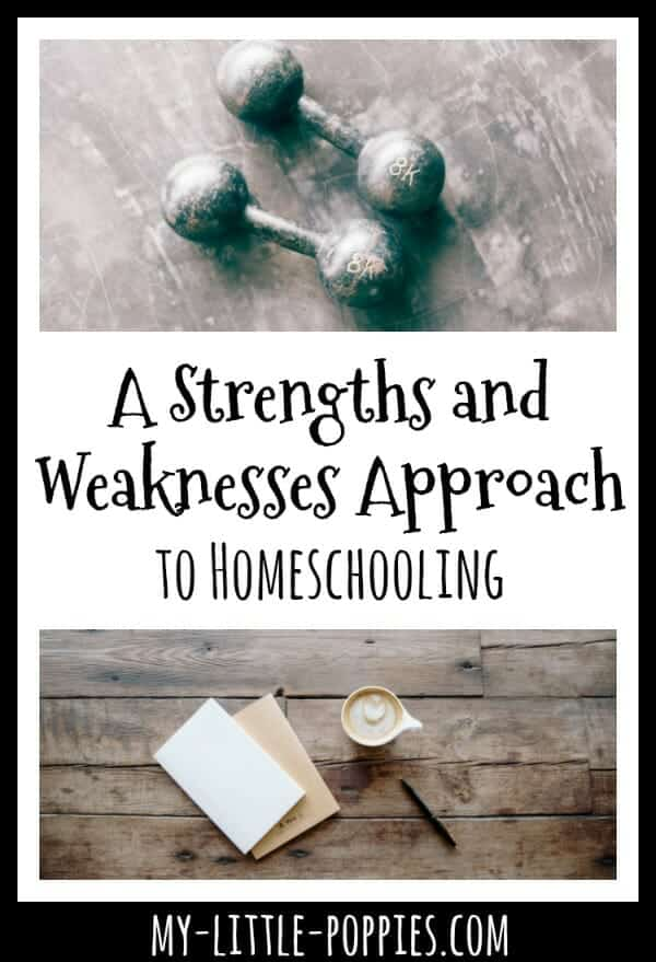 A Strengths and Weaknesses Approach to Homeschooling | My Little Poppies