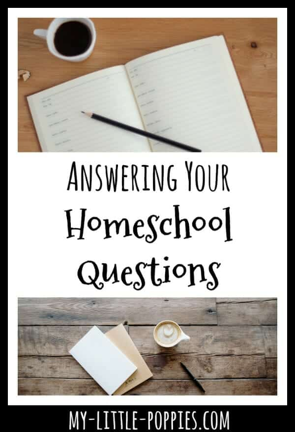 Answering Your Homeschool Questions  | My Little Poppies