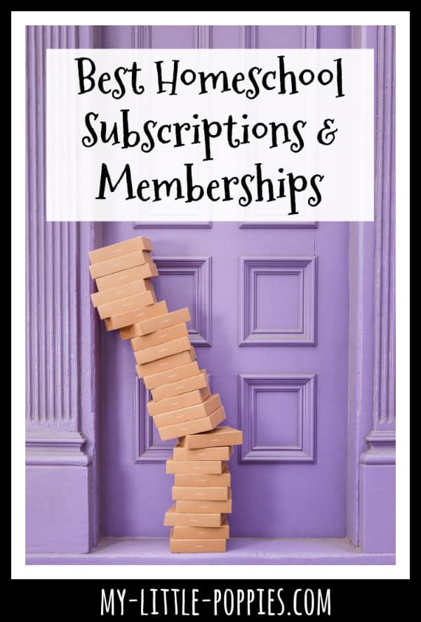 Best Homeschool Subscriptions & Memberships | My Little Poppies