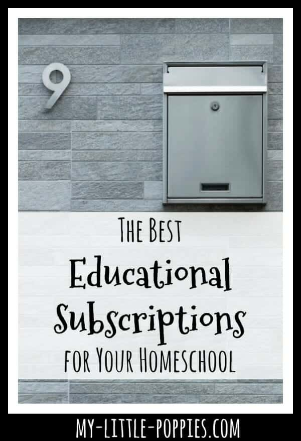 The Best Educational Subscriptions for Your Homeschool | My Little Poppies