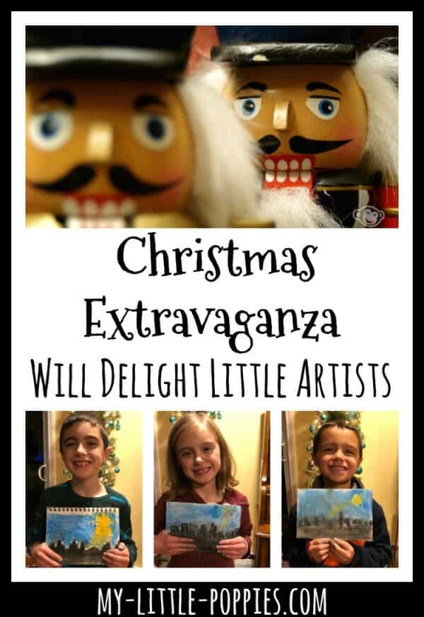 This Awesome Christmas Extravaganza Chalk Pastel Video Course Will Delight Little Artists | My Little Poppies