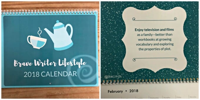 Our Brave Writer Lifestyle Plans | February 2018