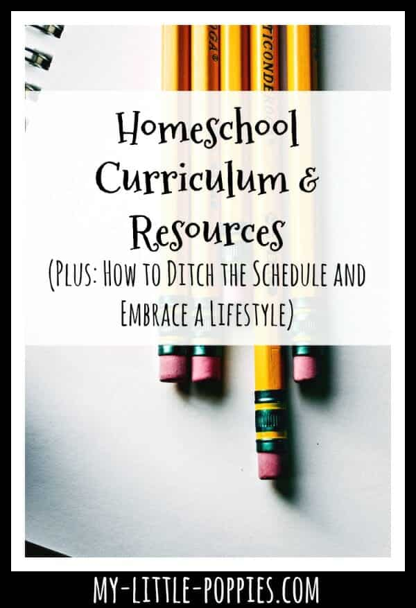 Homeschool Curriculum: How to Ditch the Schedule and Embrace a Lifestyle | My Little Poppies