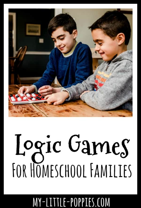 Logic Games For Homeschool Families {A Gameschooling Resource Page} | My Little Poppies