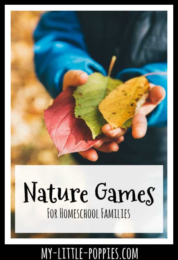 Nature Games For Homeschool Families {A Gameschooling Series} | My Little Poppies