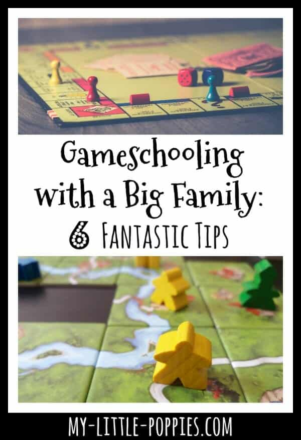 6 Fantastic Tips for Gameschooling with a Big Family | June Doran of This Simple Balance for My Little Poppies