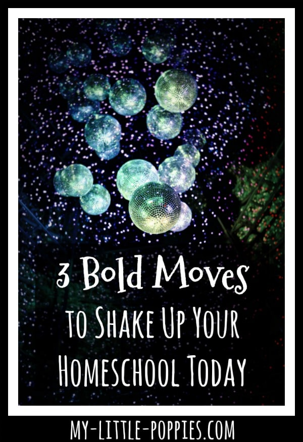 3 Bold Moves to Shake Up Your Homeschool Today! | My Little Poppies