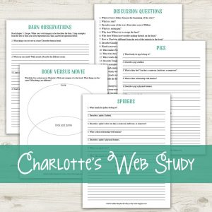 Charlotte's Web {Lazy Unit Study Inspiration Pack} | My Little Poppies