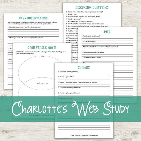 Charlotte's Web {Lazy Unit Study Inspiration Pack} | My Little Poppies