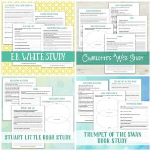 E.B. White Author, Book, and Film Study BUNDLE | My Little Poppies