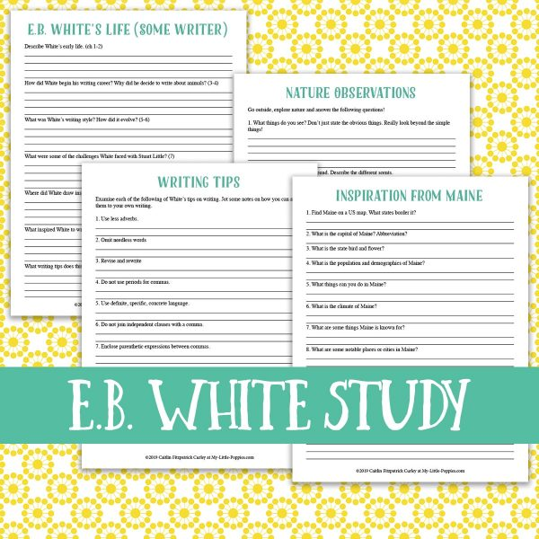E.B. White Author Study {Lazy Unit Study Inspiration Pack} | My Little Poppies